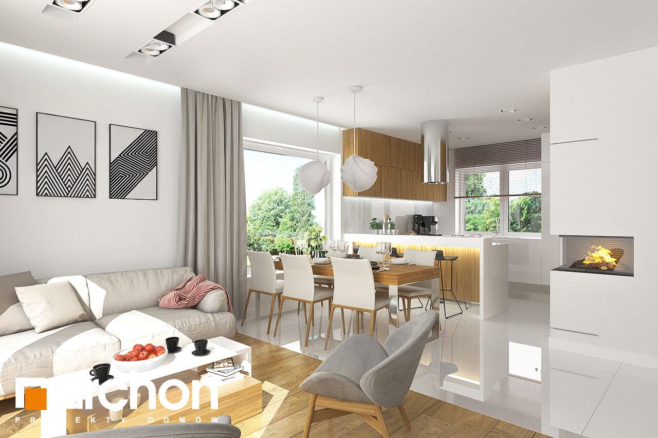 Проект будинку ARCHON+ Будинок в яблонках денна зона (візуалізація 1 від 4)