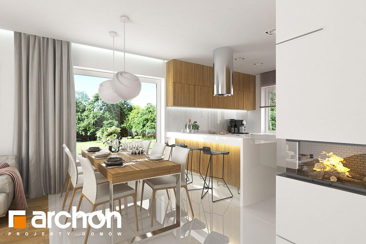 Проект будинку ARCHON+ Будинок в яблонках денна зона (візуалізація 1 від 5)