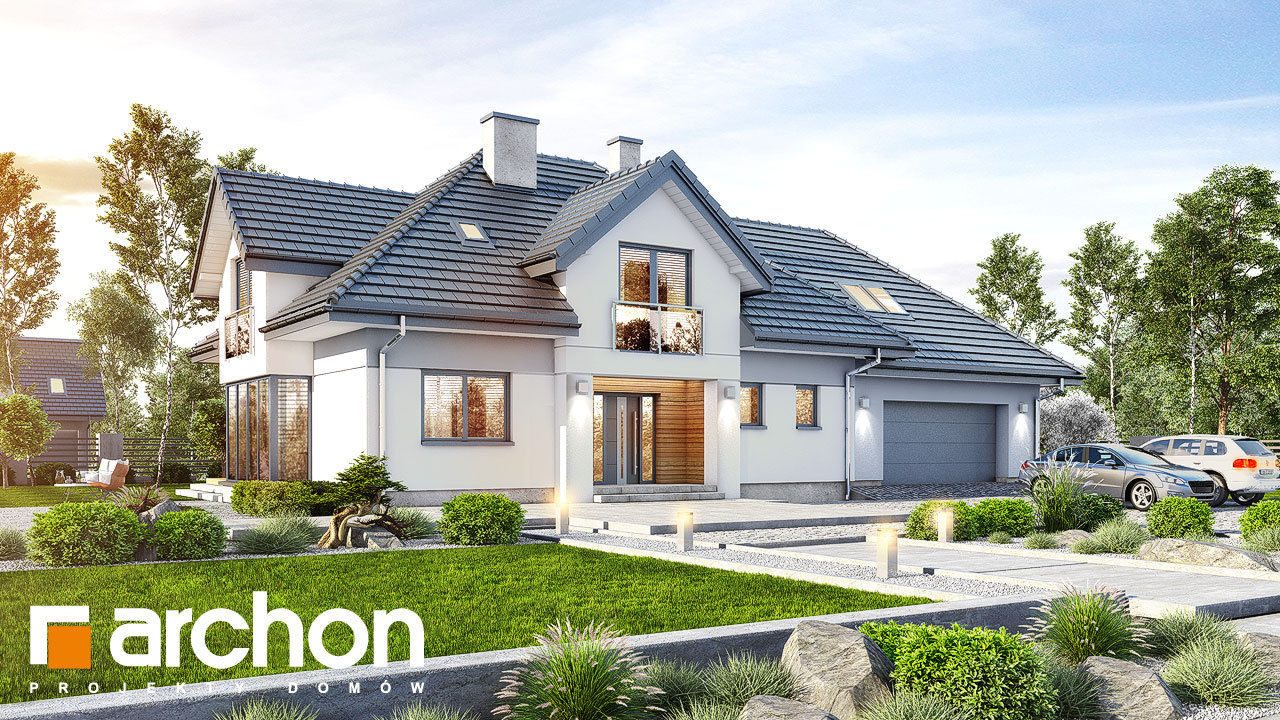 Проект будинку ARCHON+ Будинок в сливах 4 (Г2)