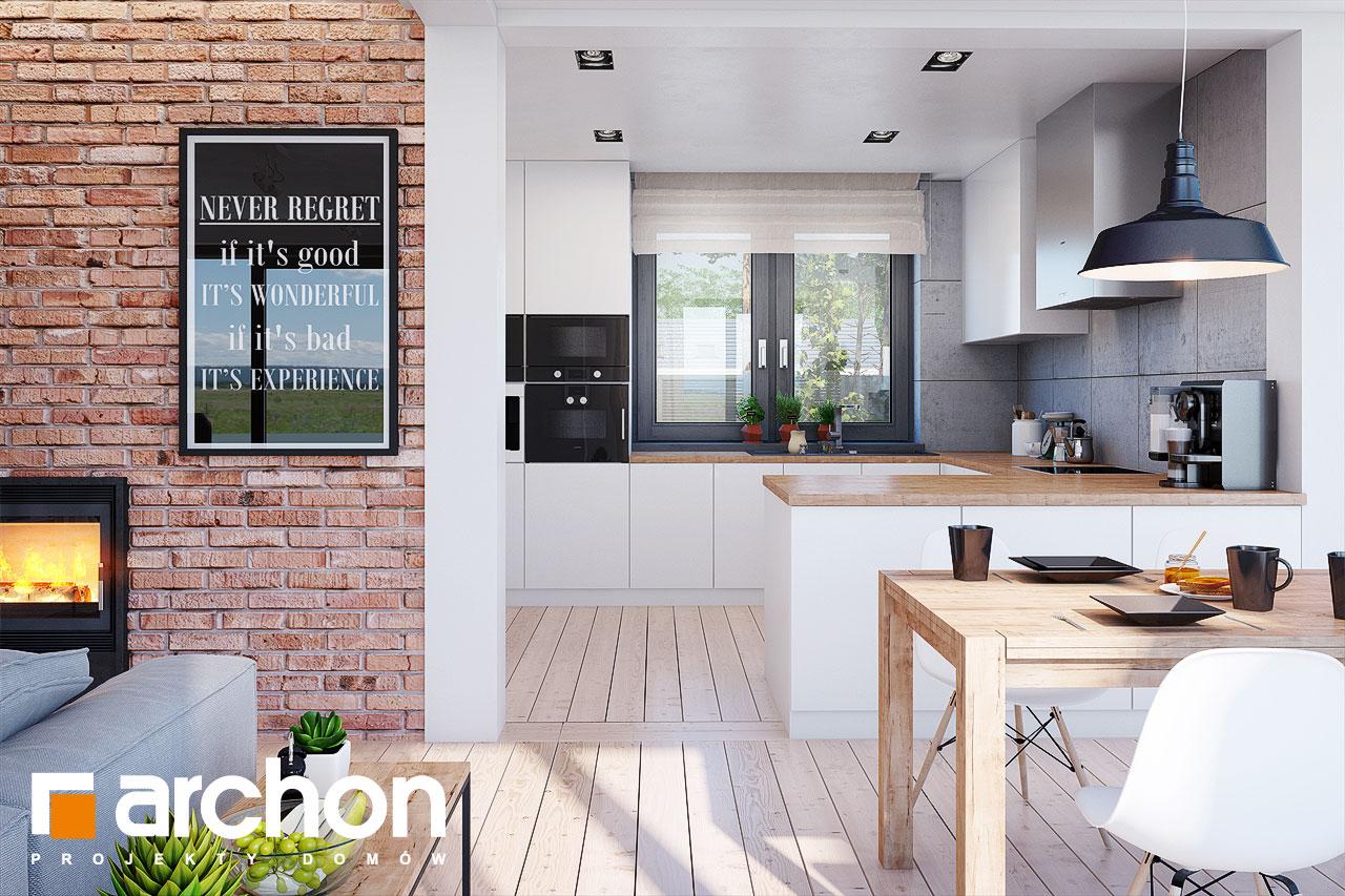 Проект будинку ARCHON+ Будинок в сливах 4 (Г2) візуалізація кухні 1 від 1