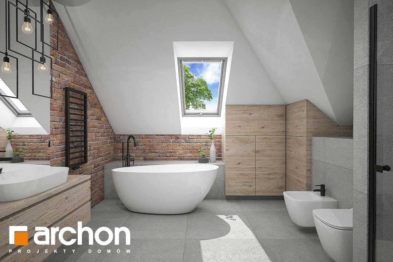 Проект будинку ARCHON+ Будинок в сливах 4 (Г2) візуалізація ванни (візуалізація 3 від 1)