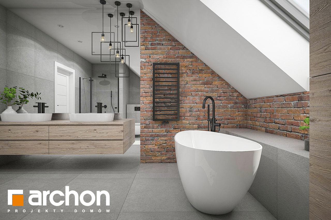 Проект будинку ARCHON+ Будинок в сливах 4 (Г2) візуалізація ванни (візуалізація 3 від 2)