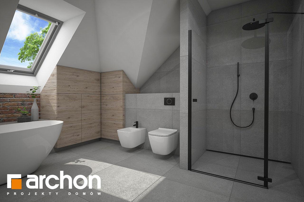 Проект будинку ARCHON+ Будинок в сливах 4 (Г2) візуалізація ванни (візуалізація 3 від 3)