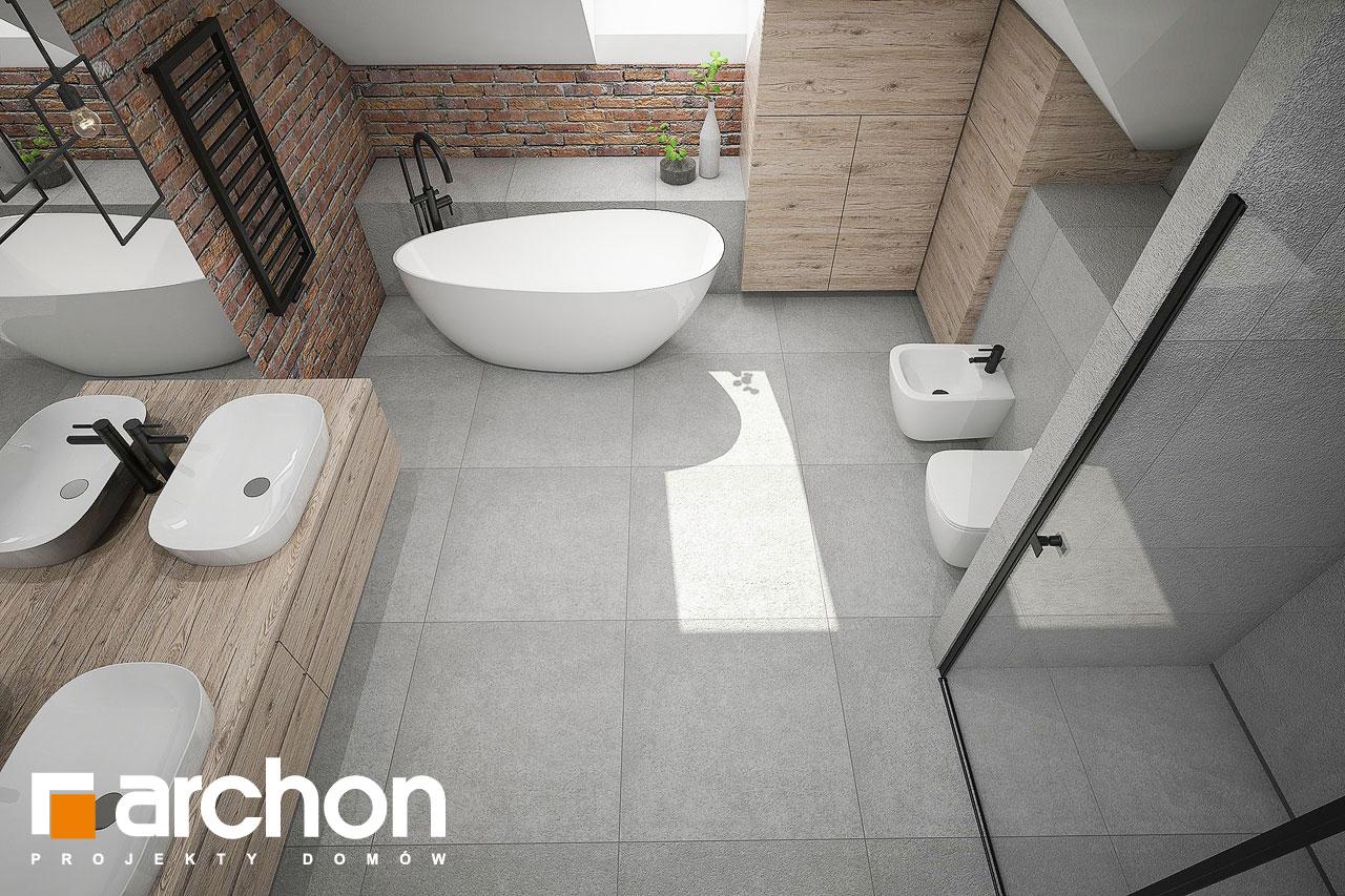 Проект будинку ARCHON+ Будинок в сливах 4 (Г2) візуалізація ванни (візуалізація 3 від 4)