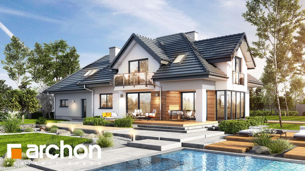 Проект будинку ARCHON+ Будинок в сливах 4 (Г2) Вид 2