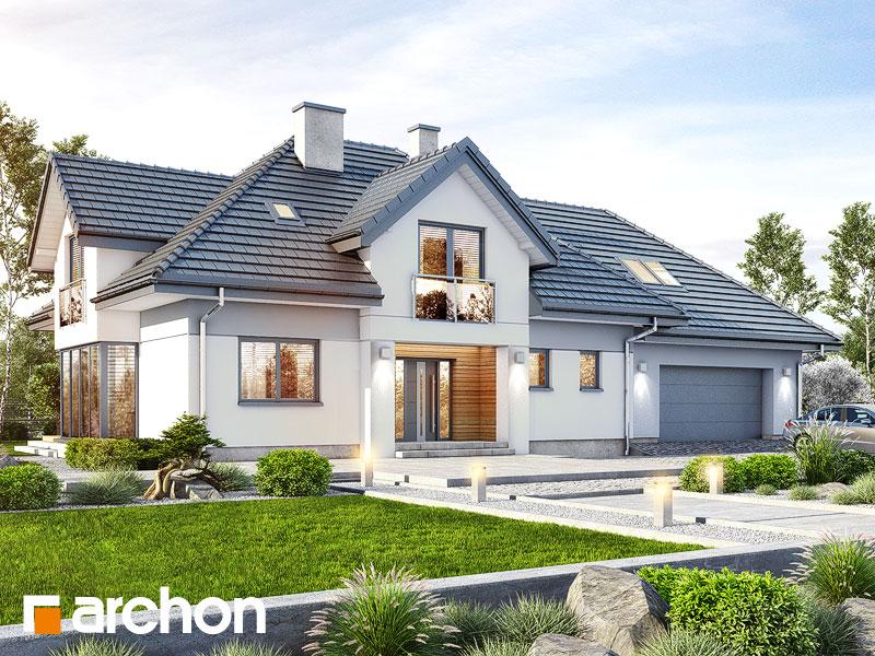 Проект будинку ARCHON+ Будинок в сливах 4 (Г2) Вид 1
