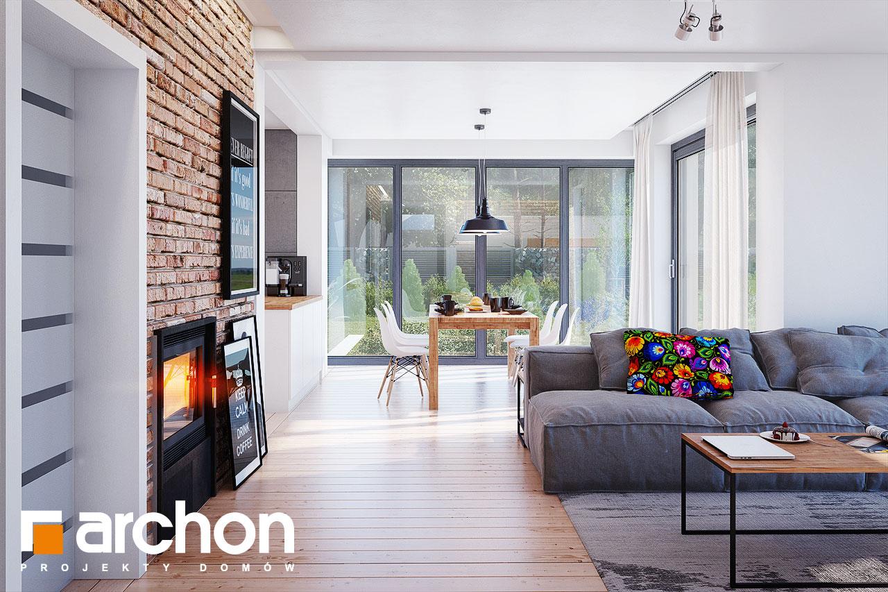 Проект будинку ARCHON+ Будинок в сливах 4 (Г2) денна зона (візуалізація 1 від 2)