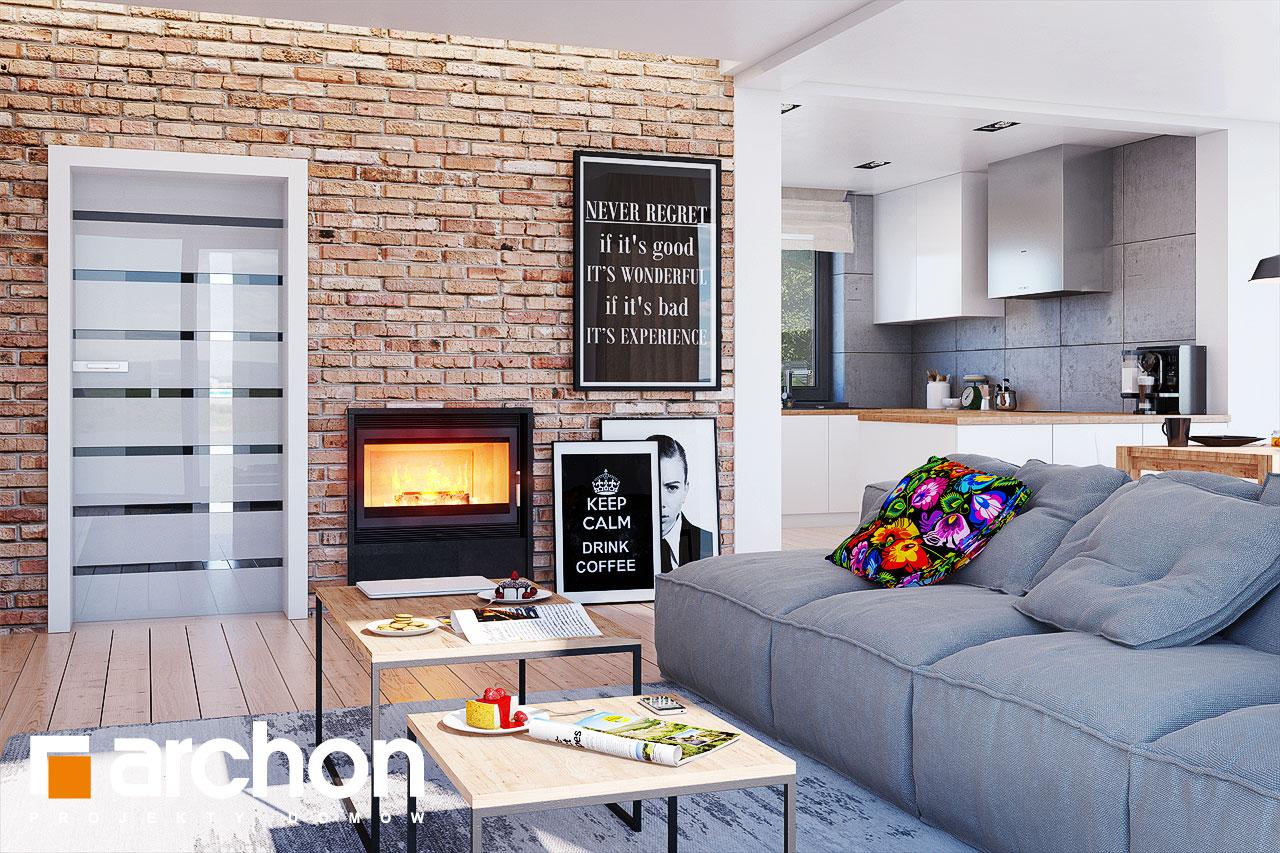 Проект будинку ARCHON+ Будинок в сливах 4 (Г2) денна зона (візуалізація 1 від 3)