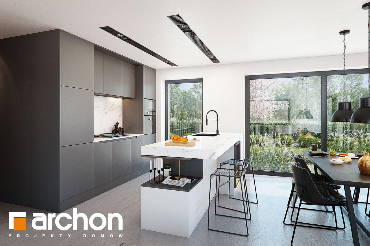 Проект дома ARCHON+ Дом в шишковиках 3 визуализация кухни 1 вид 2