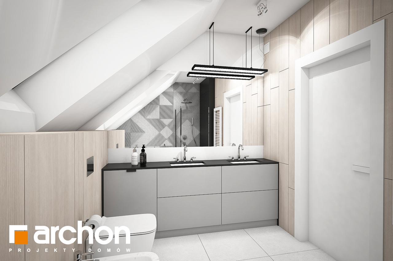 Проект будинку ARCHON+ Будинок в шишковиках 3 візуалізація ванни (візуалізація 3 від 2)