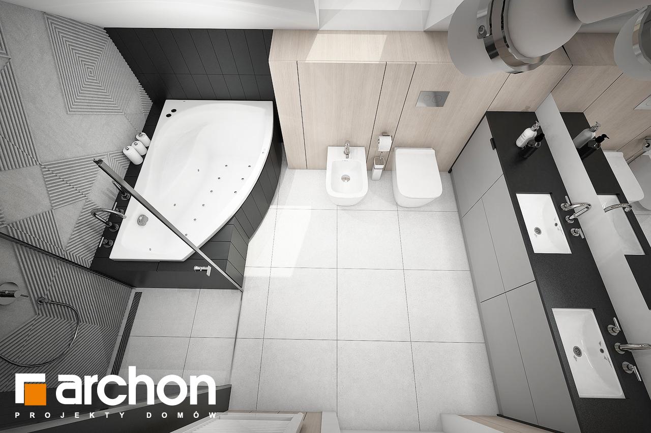 Проект будинку ARCHON+ Будинок в шишковиках 3 візуалізація ванни (візуалізація 3 від 4)