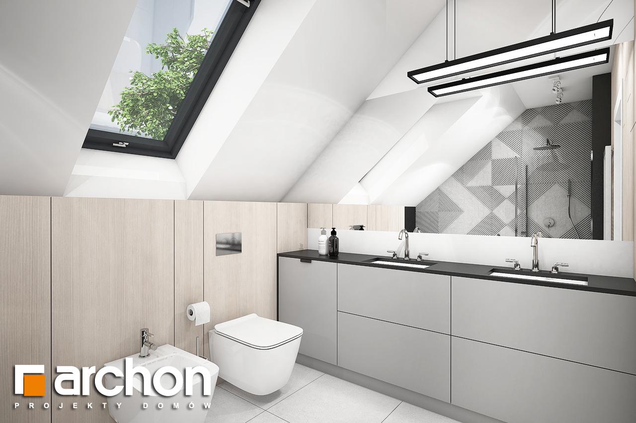 Проект дома ARCHON+ Дом в шишковиках 3 визуализация ванной (визуализация 3 вид 1)