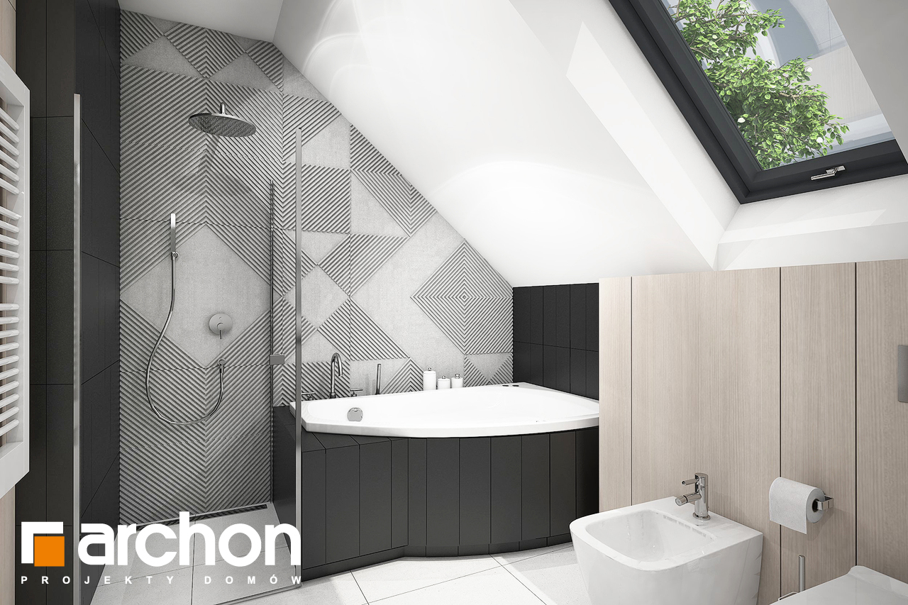 Проект дома ARCHON+ Дом в шишковиках 3 визуализация ванной (визуализация 3 вид 3)