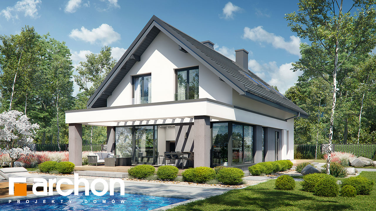 Проект будинку ARCHON+ Будинок в шишковиках 3 стилізація 3