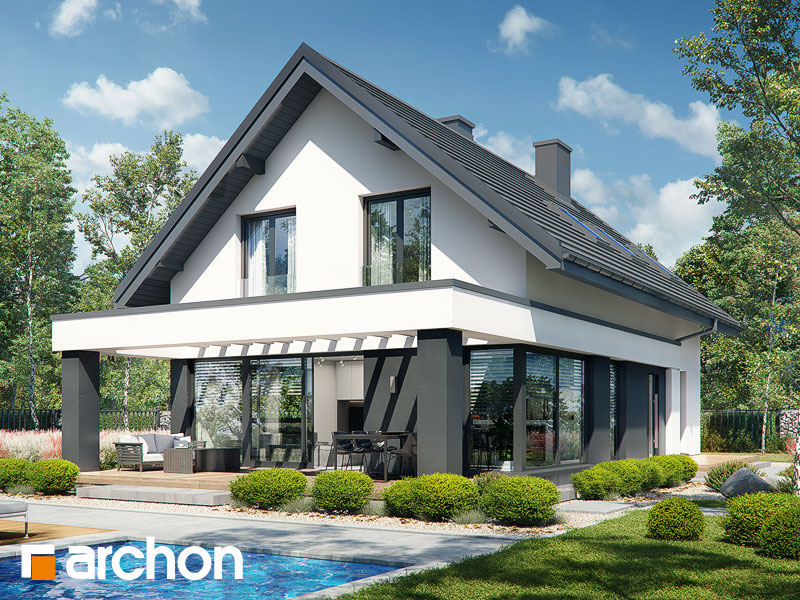 Проект дома ARCHON+ Дом в шишковиках 3 Вид 1