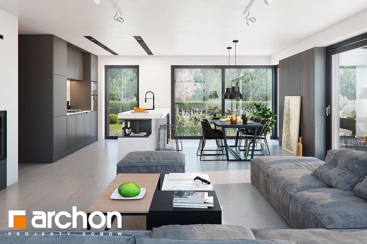 Проект дома ARCHON+ Дом в шишковиках 3 дневная зона (визуализация 1 вид 2)