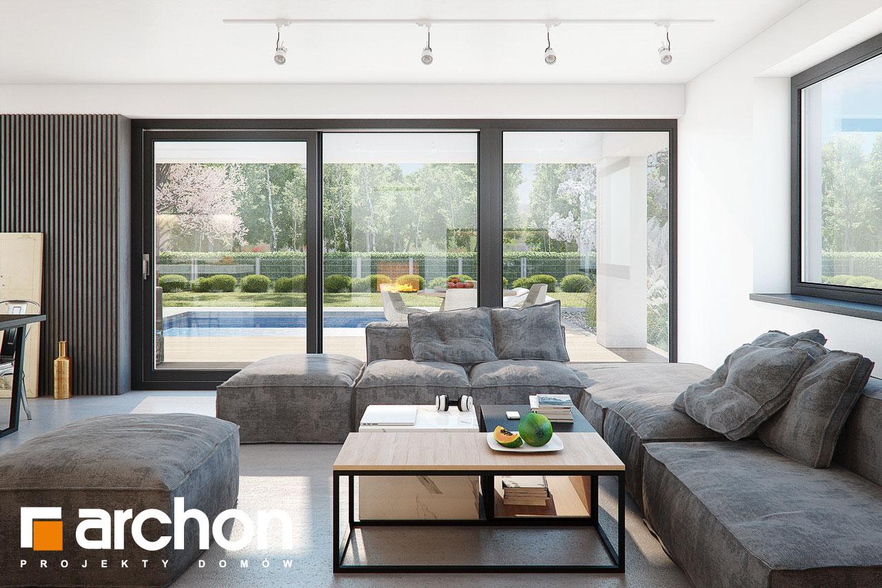 Проект дома ARCHON+ Дом в шишковиках 3 дневная зона (визуализация 1 вид 3)