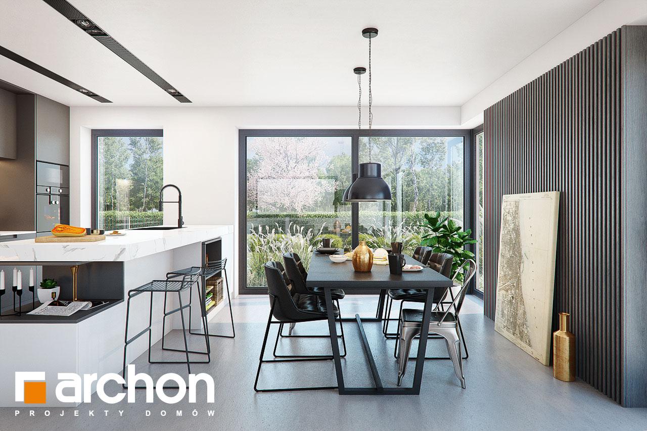 Проект дома ARCHON+ Дом в шишковиках 3 дневная зона (визуализация 1 вид 4)