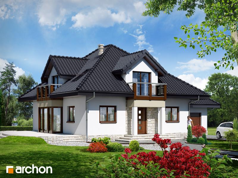 Проект будинку ARCHON+ Будинок в жасмині стилізація 3