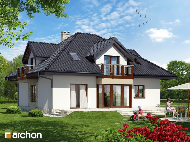 Проект будинку ARCHON+ Будинок в жасмині стилізація 4