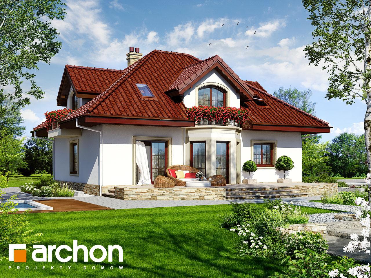 Проект будинку ARCHON+ Будинок в жасмині Вид 2
