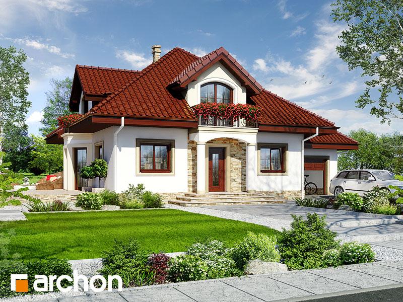 Проект будинку ARCHON+ Будинок в жасмині Вид 1