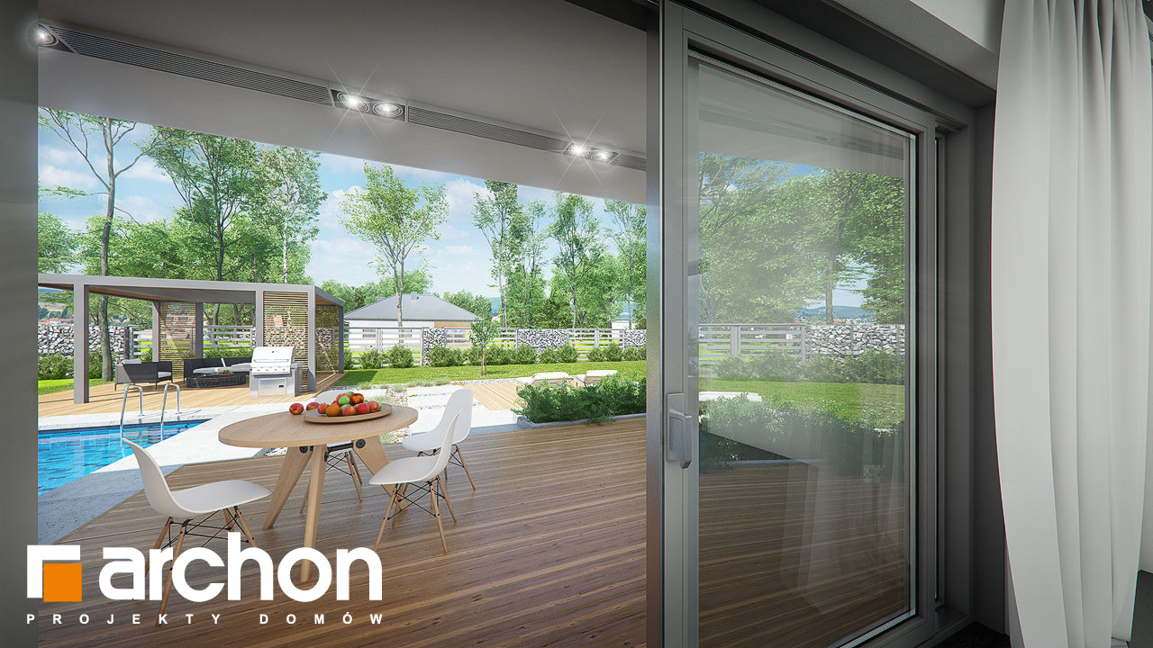 Проект будинку ARCHON+ Будинок в бірюзі (Г2) додаткова візуалізація