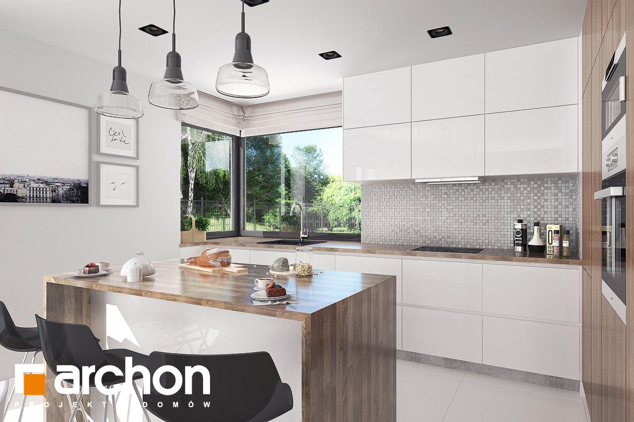 Проект будинку ARCHON+ Будинок в бірюзі (Г2) візуалізація кухні 1 від 1