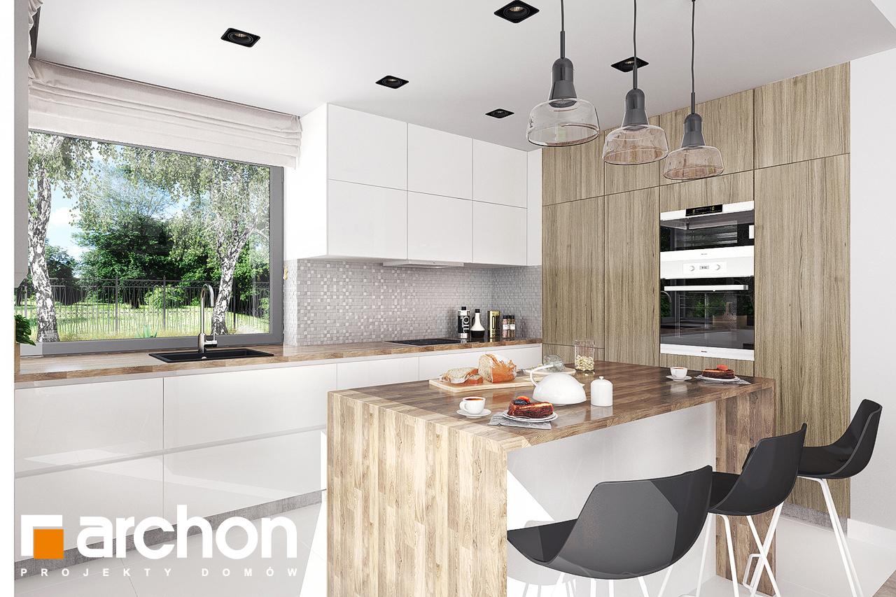 Проект будинку ARCHON+ Будинок в бірюзі (Г2) візуалізація кухні 1 від 2