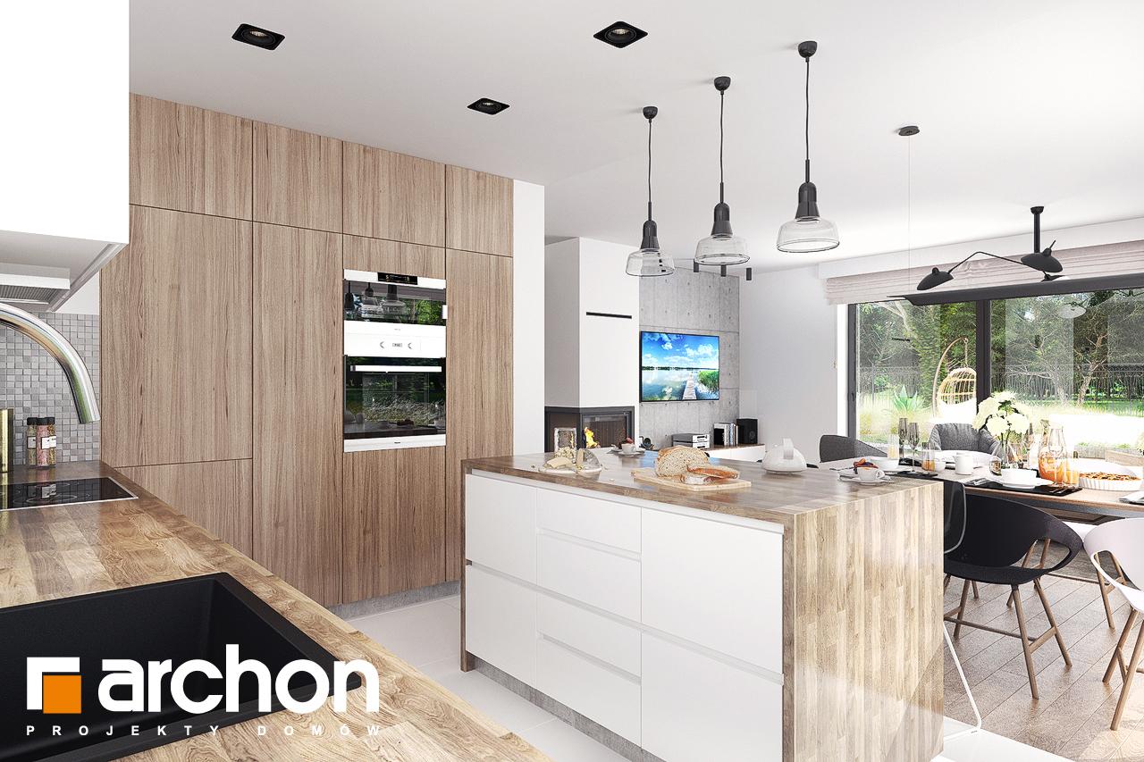 Проект будинку ARCHON+ Будинок в бірюзі (Г2) візуалізація кухні 1 від 3