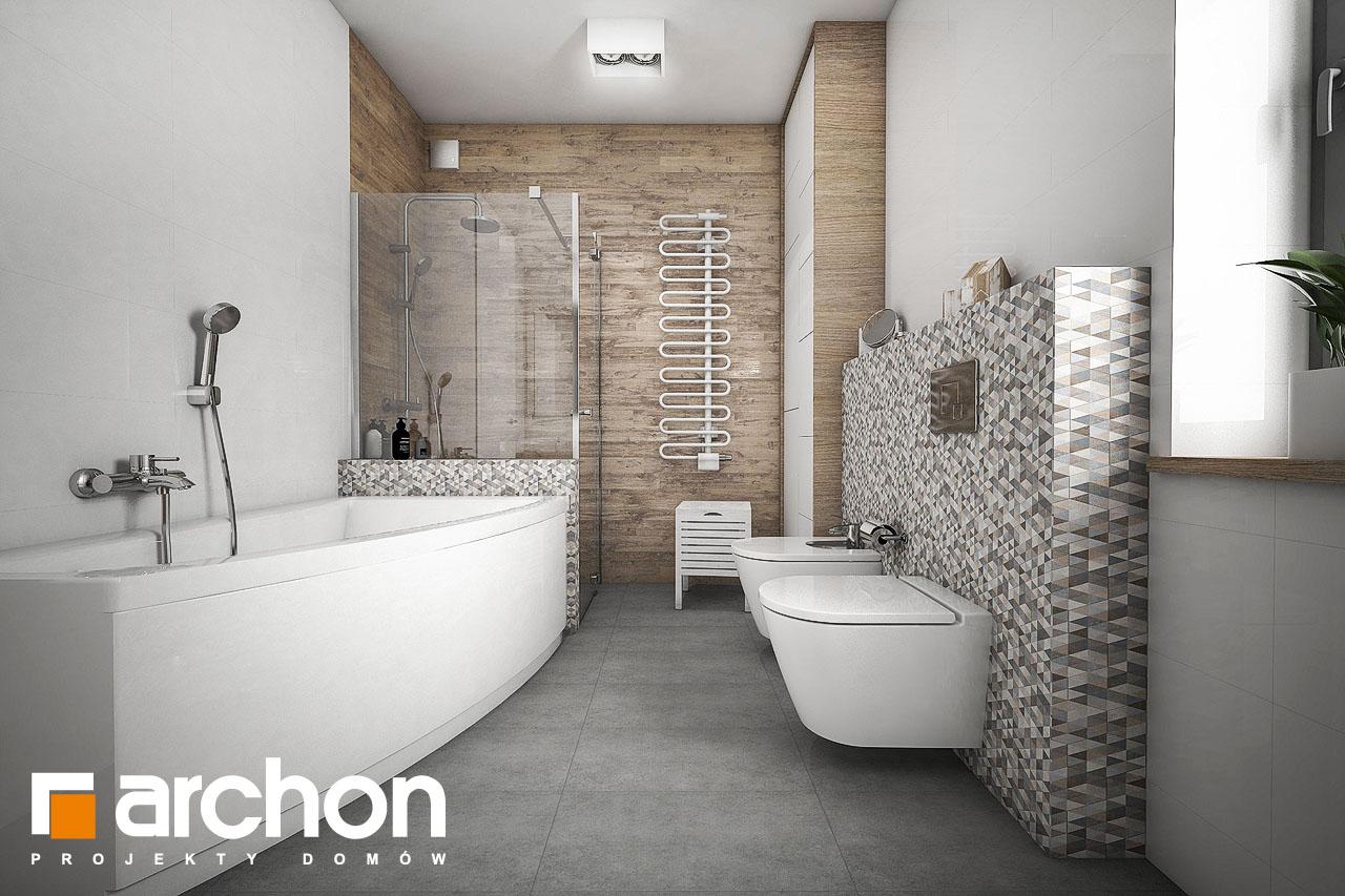 Проект будинку ARCHON+ Будинок в бірюзі (Г2) візуалізація ванни (візуалізація 1 від 1)