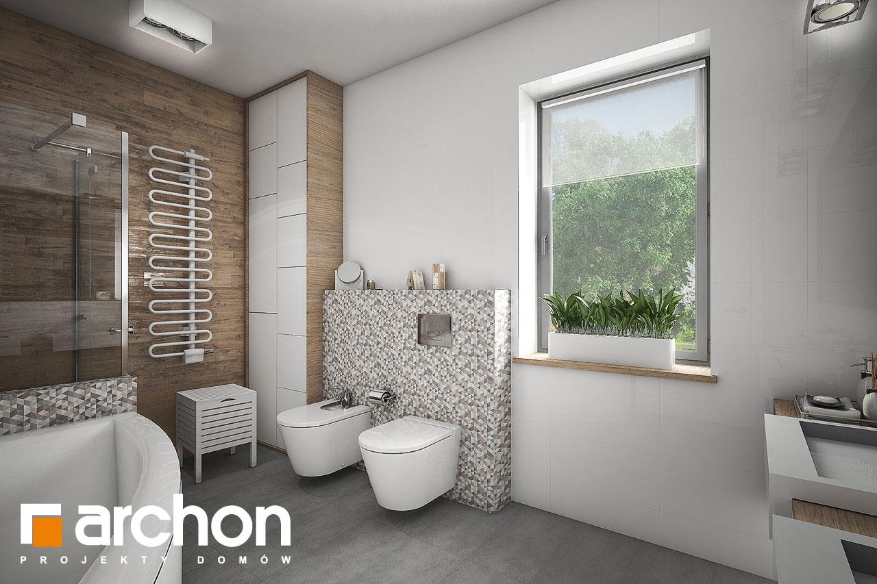 Проект будинку ARCHON+ Будинок в бірюзі (Г2) візуалізація ванни (візуалізація 1 від 2)