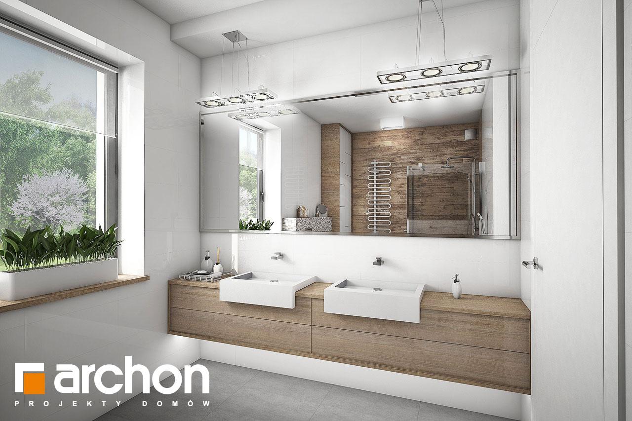 Проект будинку ARCHON+ Будинок в бірюзі (Г2) візуалізація ванни (візуалізація 1 від 3)