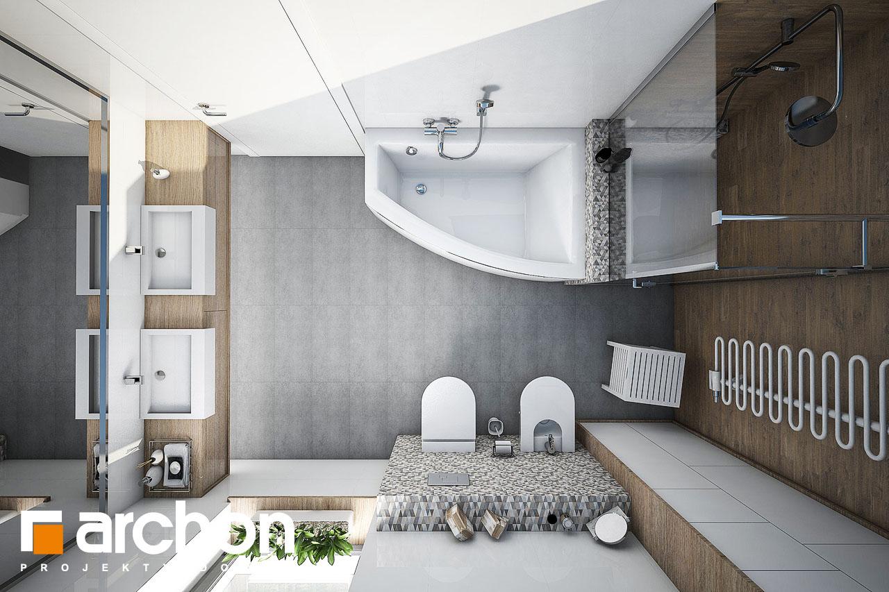 Проект будинку ARCHON+ Будинок в бірюзі (Г2) візуалізація ванни (візуалізація 1 від 4)