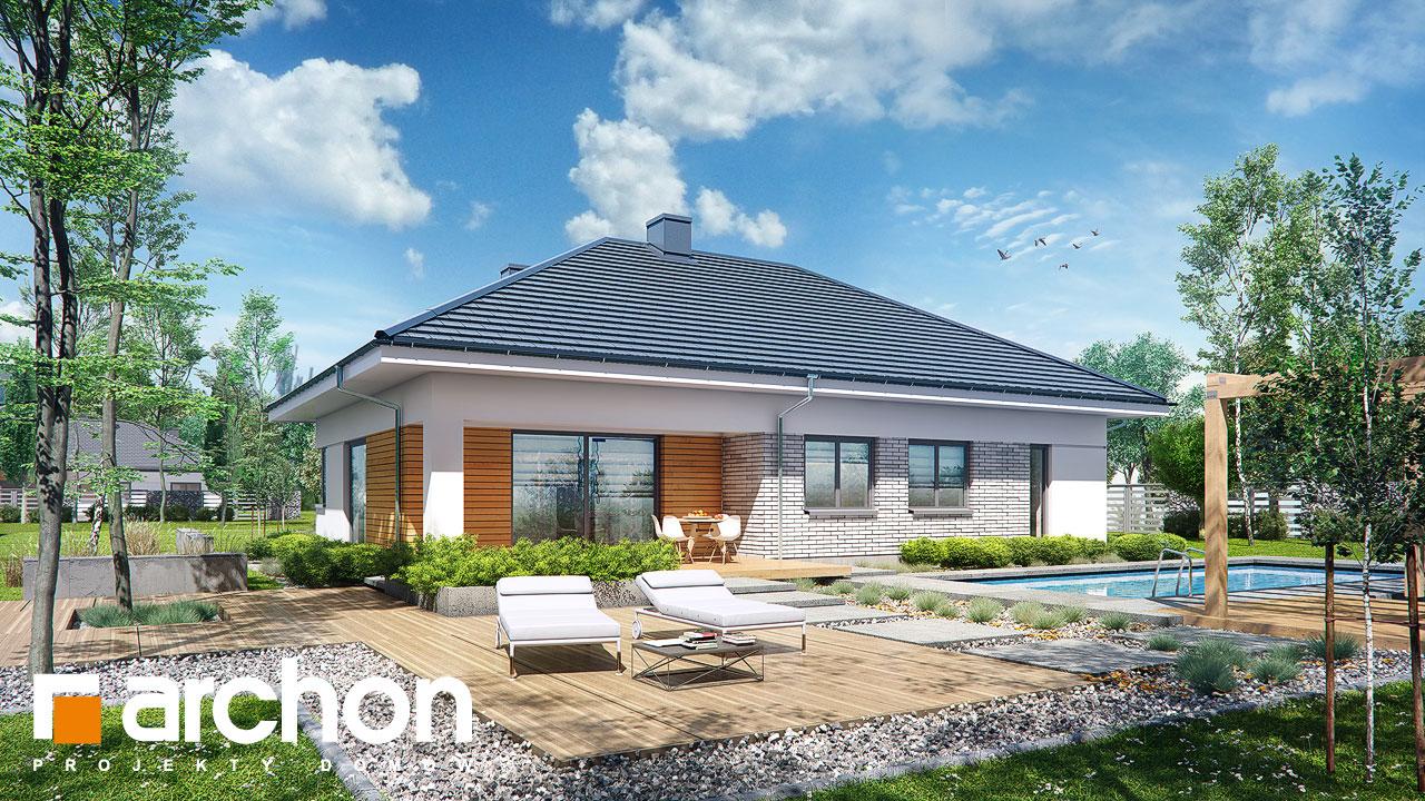 Проект будинку ARCHON+ Будинок в бірюзі (Г2) Вид 2