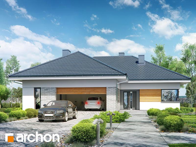 Проект будинку ARCHON+ Будинок в бірюзі (Г2) Вид 1