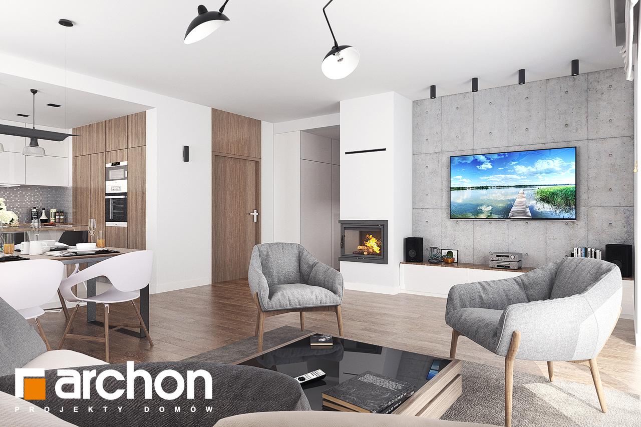 Проект будинку ARCHON+ Будинок в бірюзі (Г2) денна зона (візуалізація 1 від 1)