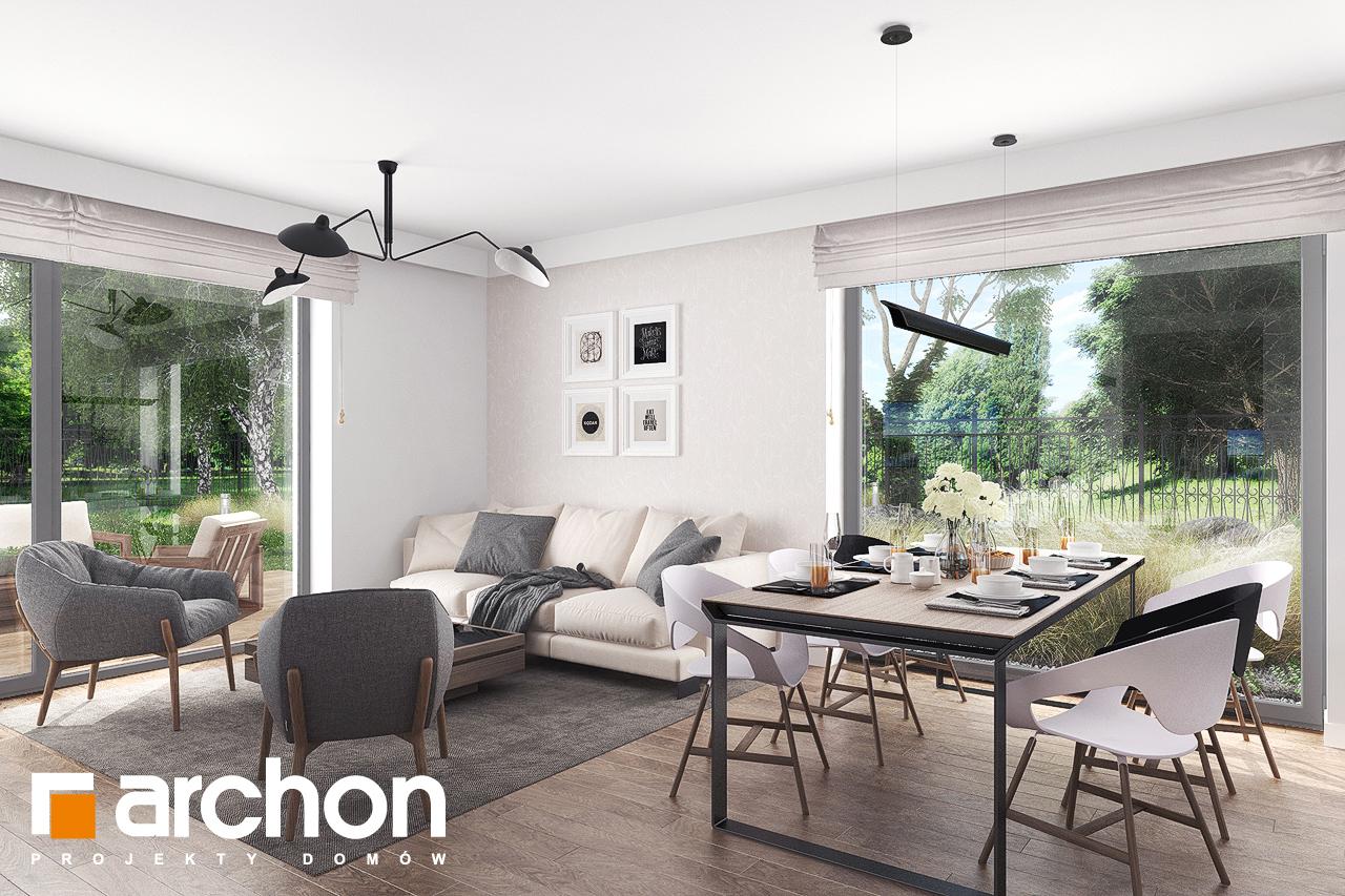 Проект будинку ARCHON+ Будинок в бірюзі (Г2) денна зона (візуалізація 1 від 3)