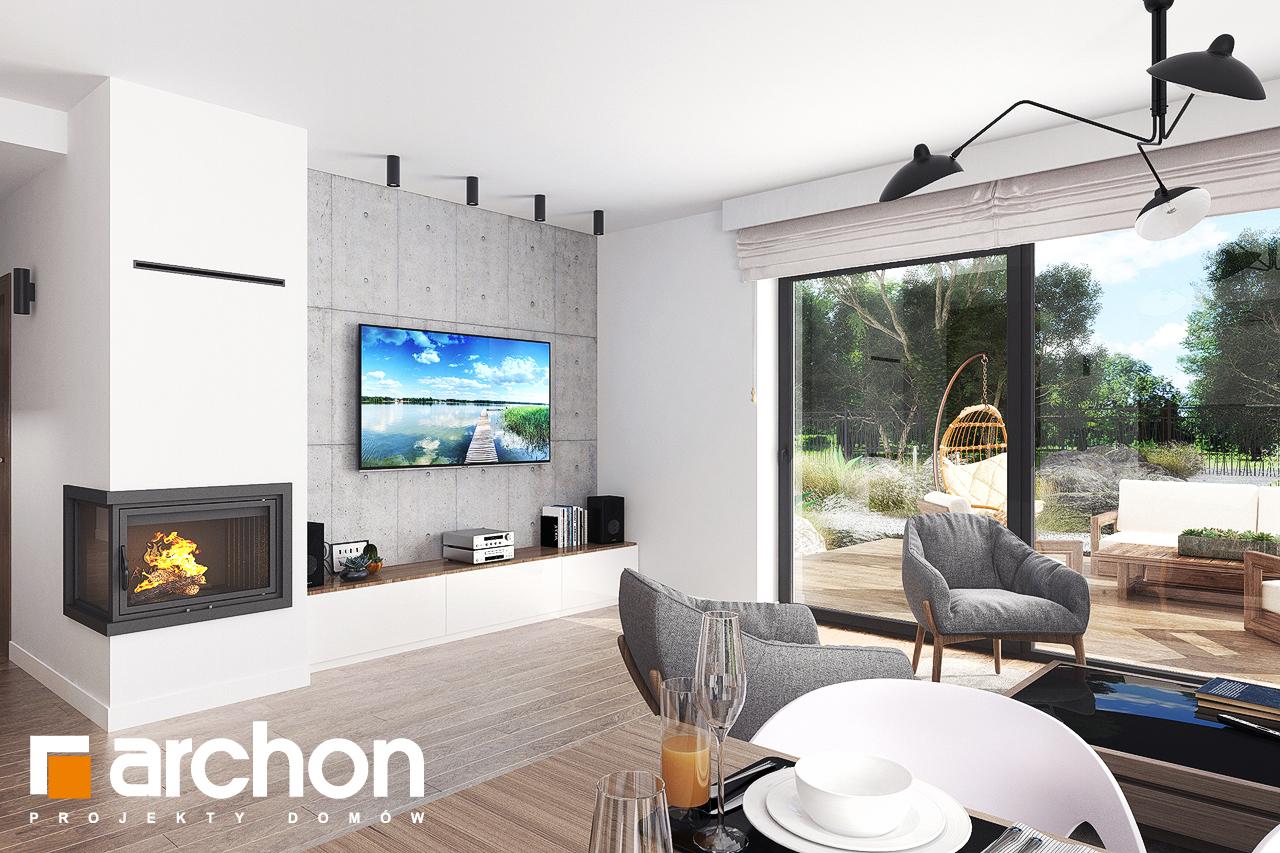 Проект будинку ARCHON+ Будинок в бірюзі (Г2) денна зона (візуалізація 1 від 4)