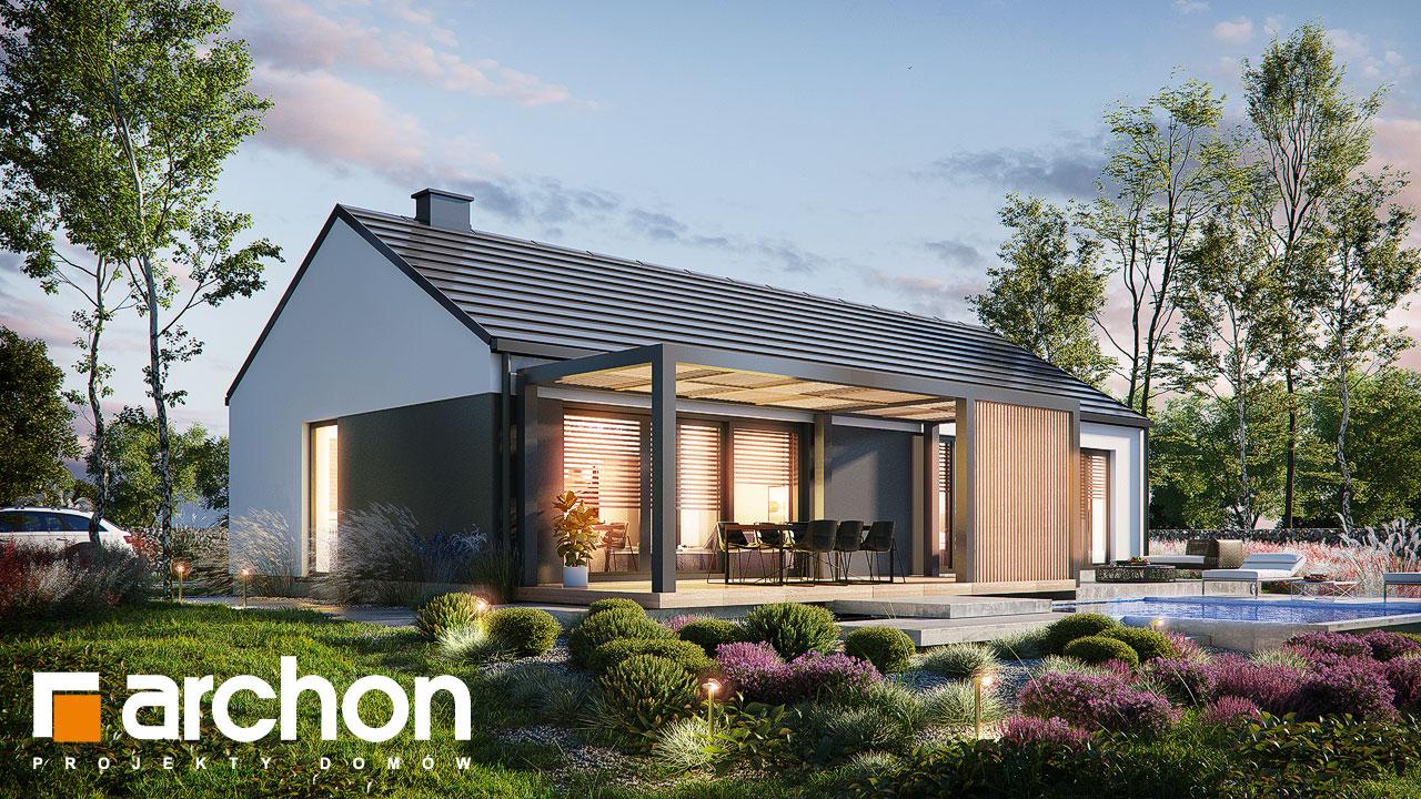 Проект будинку ARCHON+ Будинок в ірисах 2 (Н) додаткова візуалізація