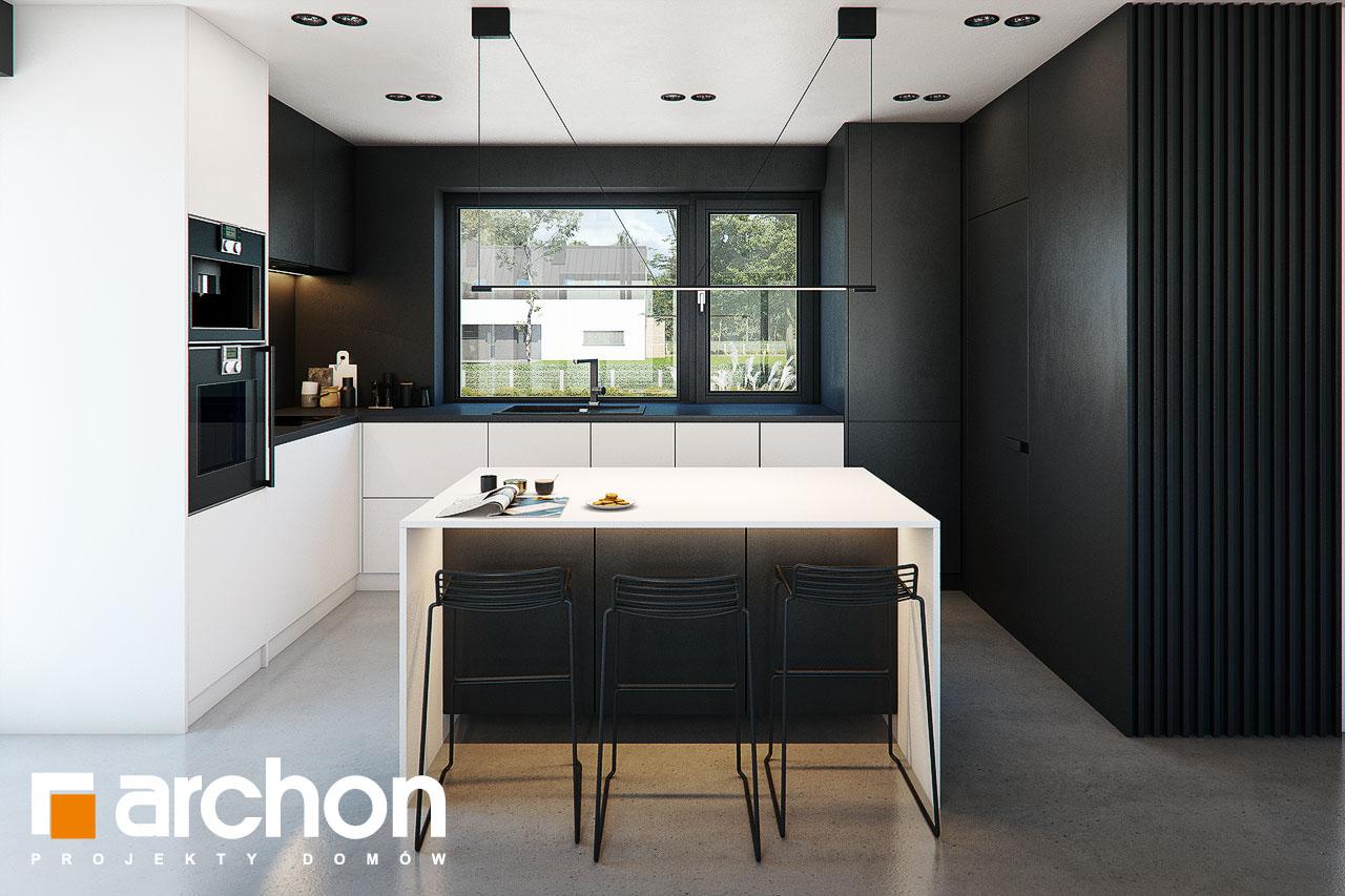 Проект будинку ARCHON+ Будинок в ірисах 2 (Н) візуалізація кухні 1 від 1