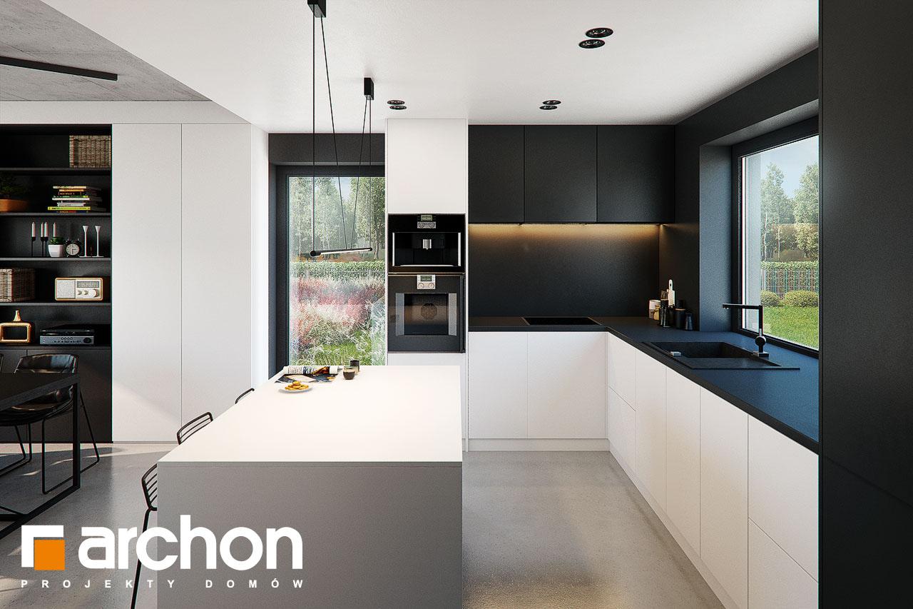 Проект будинку ARCHON+ Будинок в ірисах 2 (Н) візуалізація кухні 1 від 2