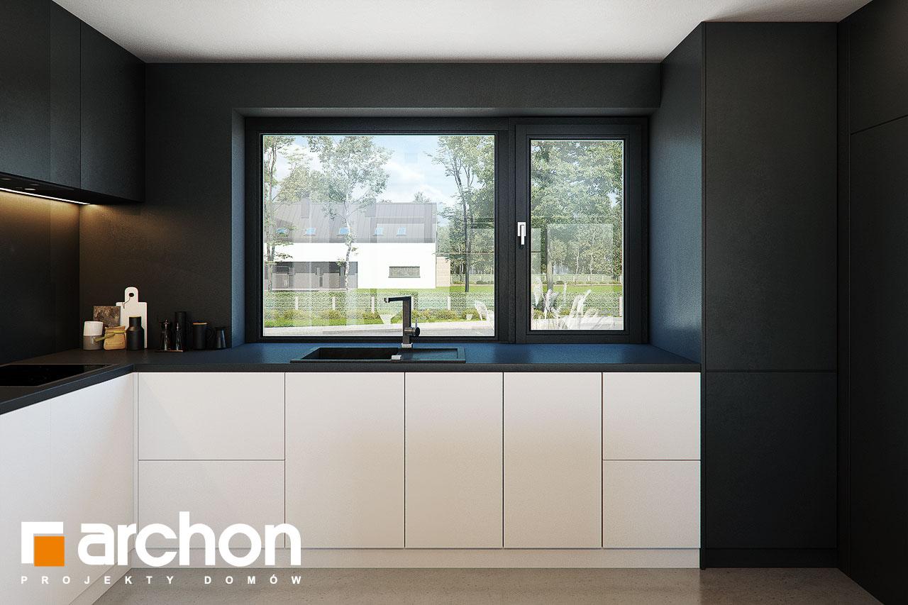 Проект будинку ARCHON+ Будинок в ірисах 2 (Н) візуалізація кухні 1 від 3