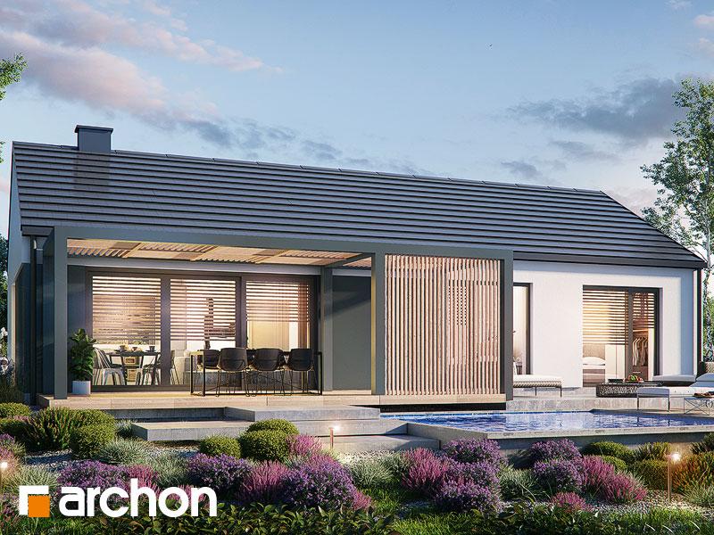 Проект будинку ARCHON+ Будинок в ірисах 2 (Н) Вид 1