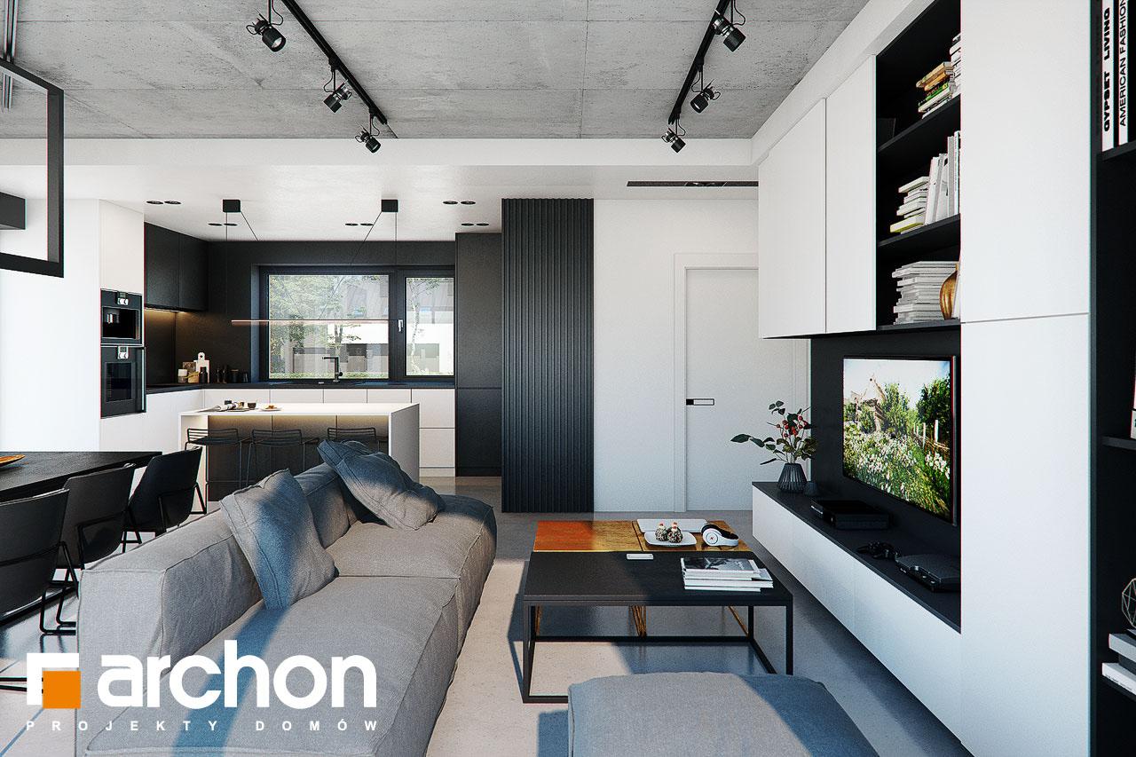 Проект будинку ARCHON+ Будинок в ірисах 2 (Н) денна зона (візуалізація 1 від 2)