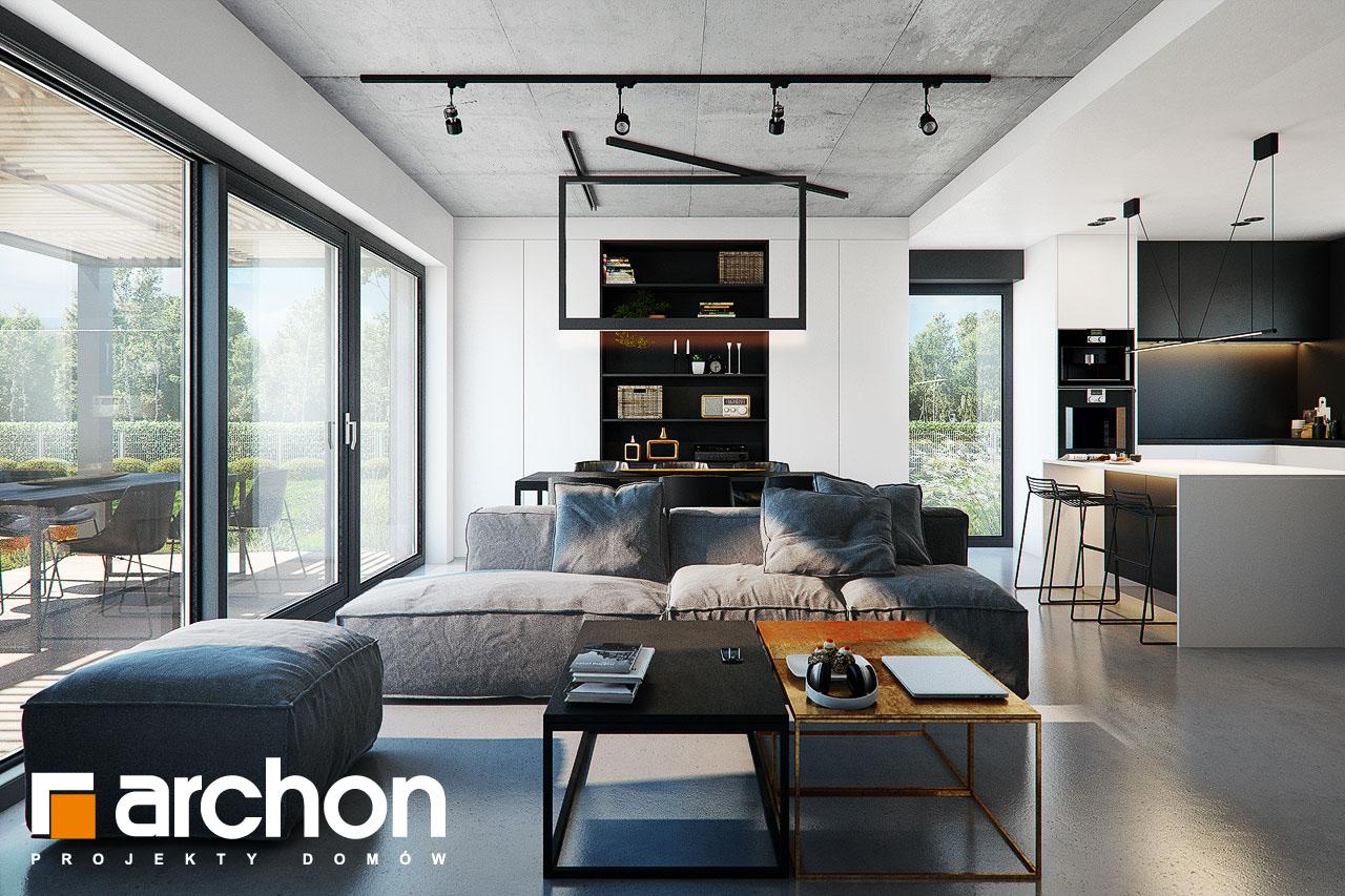 Проект будинку ARCHON+ Будинок в ірисах 2 (Н) денна зона (візуалізація 1 від 4)