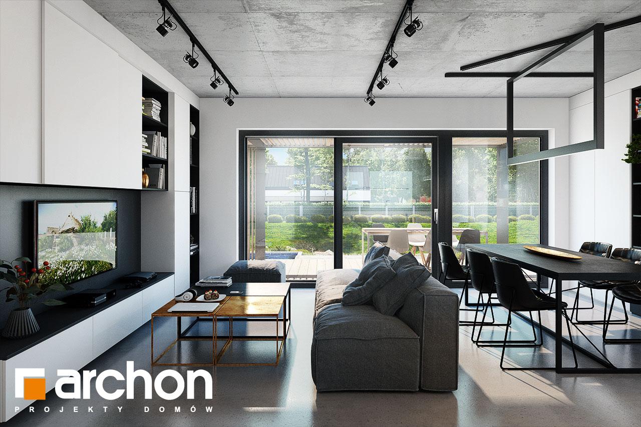 Проект будинку ARCHON+ Будинок в ірисах 2 (Н) денна зона (візуалізація 1 від 6)