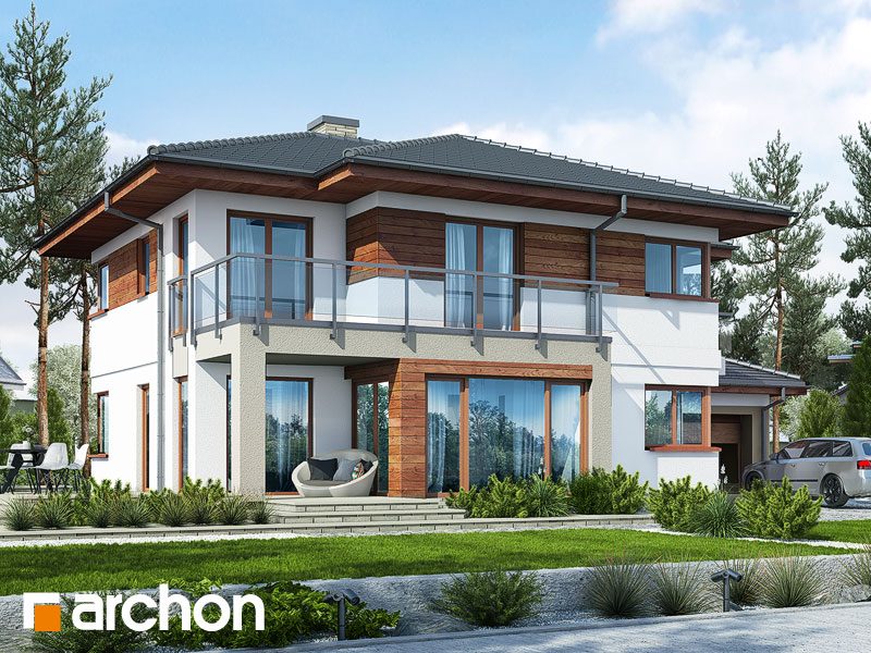 Проект дома ARCHON+ Вилла Элиза 3 Вид 1