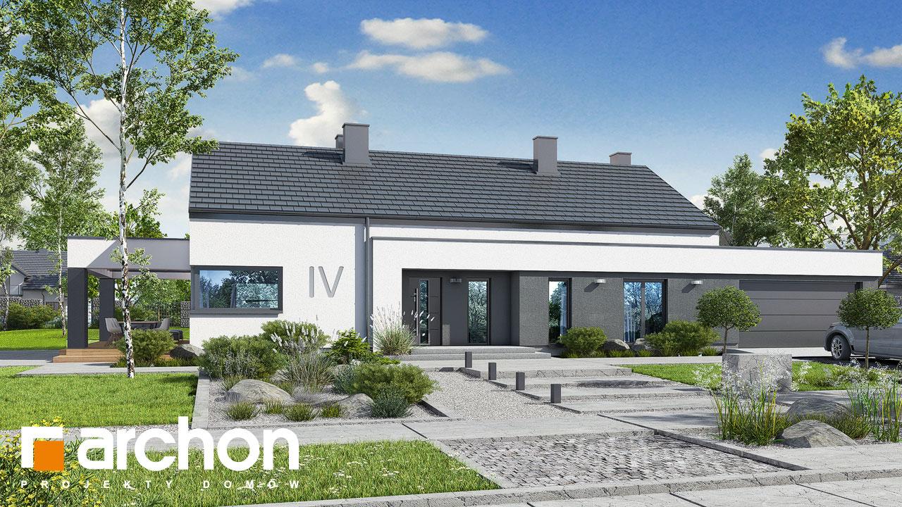 Проект будинку ARCHON+ Будинок в пепероміях 5 (Г2) стилізація 4