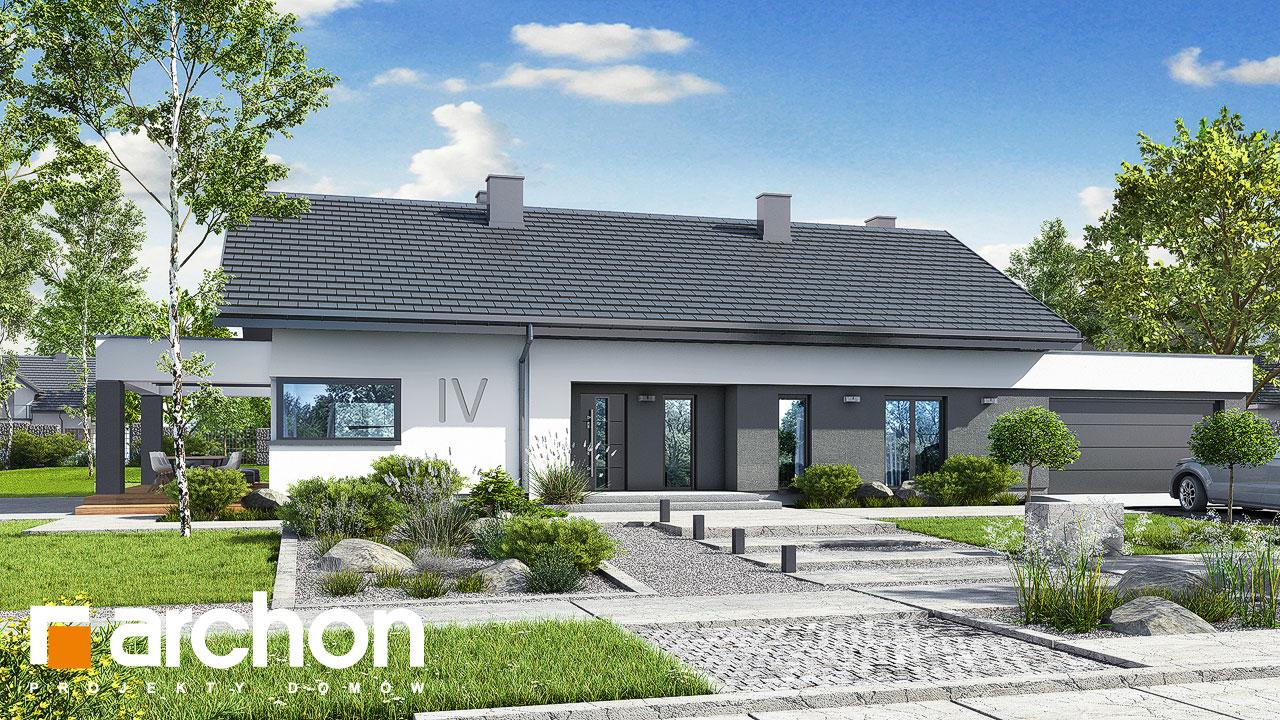 Проект будинку ARCHON+ Будинок в пепероміях 5 (Г2) Вид 2